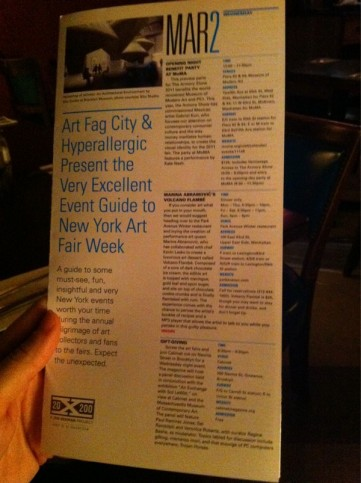 Sneak peak of our & @artfagcity's awesome event guide in @20x200's survival kits being handed out at the fairs
